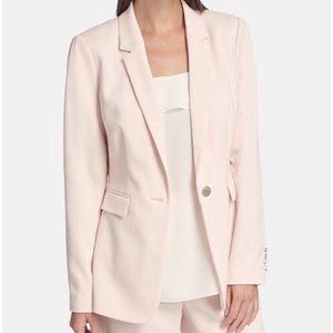 NWT DKNY Pink/Gold Twill Knit Blazer